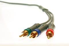 белизна tv разъемов кабелей предпосылки Стоковая Фотография