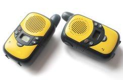белизна walkie talkie предпосылки Стоковое фото RF
