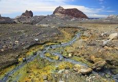 белизна zealand вулкана острова новая Стоковые Изображения