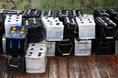 белизны аккумуляторов черные Стоковое Изображение RF