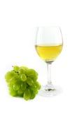 Белое вино и виноградины Стоковое Изображение RF
