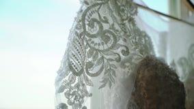 Белое платье свадьбы видеоматериал
