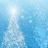 Белое рождество, вектор Стоковое Изображение
