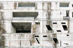 Белое старое здание вполне moldy Пакостное старое здание Стоковое Фото
