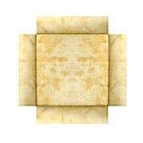белокурая бумага grunge рамки Стоковая Фотография RF