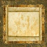 белокурая бумага grunge рамки Стоковое Фото