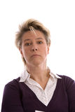 белокурая возмужалая женщина Стоковое Изображение RF