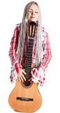 белокурая гитара Стоковое фото RF