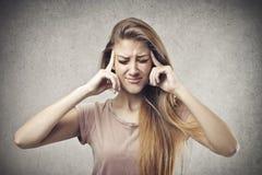 Белокурая головная боль Стоковые Изображения RF