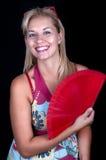 белокурая девушка вентилятора Стоковое Изображение RF