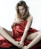 белокурая девушка стоковое изображение rf