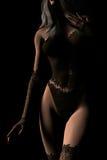 белокурая женщина женское бельё Стоковое фото RF