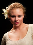 белокурая женщина портрета Стоковое фото RF