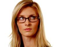 белокурая женщина стекел стоковая фотография rf