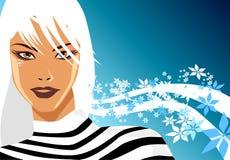 белокурая зима Бесплатная Иллюстрация