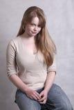 белокурая милая девушка Стоковое Фото