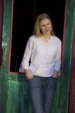 белокурая милая женщина Стоковое Изображение RF
