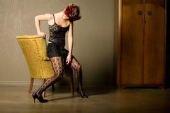 белокурая модная девушка сексуальная Стоковая Фотография RF