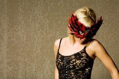 белокурая модная девушка сексуальная Стоковое фото RF