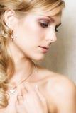 белокурая невеста стоковая фотография rf