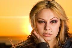 белокурая сексуальная женщина Стоковые Фото