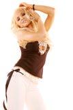 белокурая сексуальная женщина Стоковая Фотография