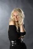белокурая сексуальная усмешка Стоковые Фото