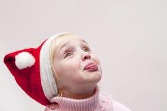 белокурая тема девушки рождества Стоковое Фото