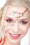 белокурое изображение sakura стоковые фото