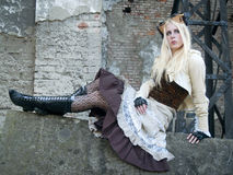 белокурое steampunk девушки Стоковое Изображение