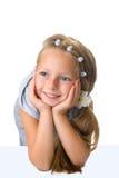 белокурые волосы девушки длиной довольно Стоковое Фото