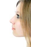 белокурые девушки портрета детеныши довольно Стоковое Фото