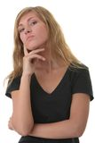 белокурые детеныши женщины студента портрета Стоковое фото RF