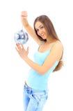 белокурые детеныши портрета девушки Стоковые Изображения RF