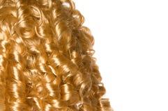 белокурые курчавые волосы Стоковые Изображения