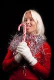 белокурые лижа детеныши портрета lollipop сексуальные Стоковые Фото