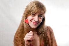 белокурые счастливые детеныши женщины Стоковая Фотография RF