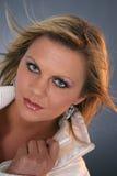 белокурый ветер девушки Стоковая Фотография