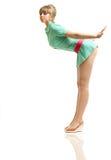 белокурый зеленый цвет платья Стоковое Фото