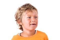 белокурый мальчик милый Стоковые Изображения RF
