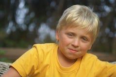 белокурый мальчик Стоковое Изображение RF