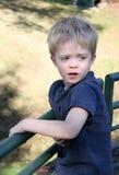 белокурый мальчик Стоковые Фотографии RF