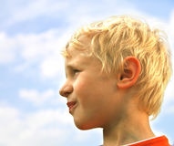 белокурый мальчик Стоковые Изображения RF