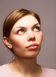 белокурый портрет девушки сексуальный Стоковая Фотография