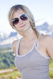 белокурый портрет девушки Стоковые Фото
