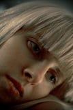 белокурый портрет девушки Стоковое фото RF