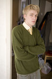 белокурый портрет человека Стоковое фото RF