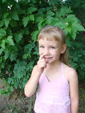 белокурый ребенок милый ее рудоразборка носа Стоковое Изображение RF