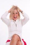 белокурый смеяться над девушки Стоковая Фотография RF