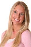 белокурый счастливый портрет предназначенный для подростков Стоковое фото RF
